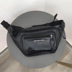 Balenciaga Leather Belt Bag 92263 Black